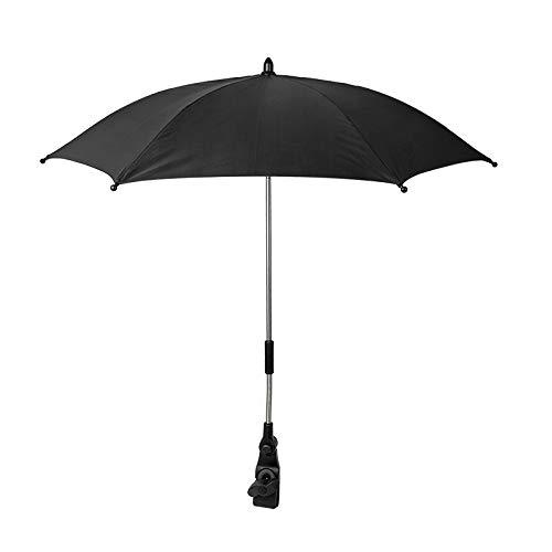 Babify Sombrilla Parasol Universal para Cochecitos de bebé y Sillas se paseo. Color Negro