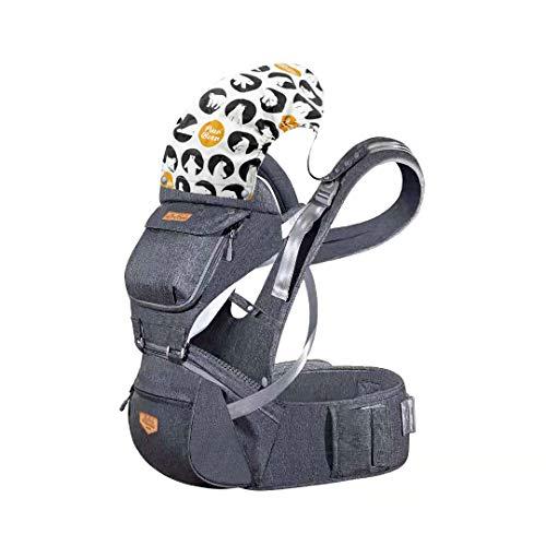 JooBebe Mochilas Portabebé Ergonómico Ajustable Marsupios Portabebé Baby Carrier Ergonomico, Manos Libres, Convertible, Múltiples Posiciones para Recién Nacidos Todas las Estaciones
