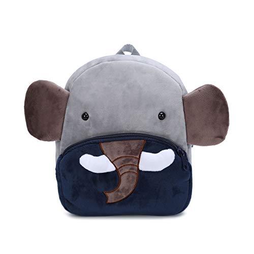 Mochila Infantil Kindergarten Guarderia Animales Linda Bolso Bebe Escuela Dibujos Animados para niña y niño 1-3 años,Elefante