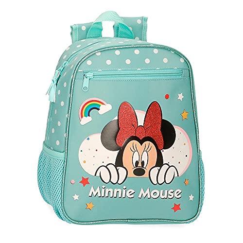 Disney Minnie Rainbow Mochila Escolar Verde 23x28x10 cms Poliéster 6,44L